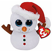TY Beanie Boo Plush - Scoop the Snowman 15cm (Christmas Exclusive)
