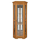 Caxton Canterbury Cradenza Display Cabinet in Golden Chestnut