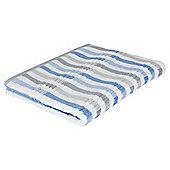 Tesco Multi Stripe Bath Sheet Blue