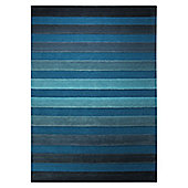 Esprit Cross Walk Turquoise Contemporary Rug - 120cm x 180cm