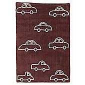 Lorena Canals Coches Brown Children's Rug - 120 cm W x 160 cm D (3 ft 11 in x 5 ft 3 in)