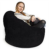 Lounge Pug™ Mini Mammoth Cord Bean Bag - Black