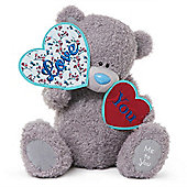 Me to You Tatty Teddy bear holding love hearts saying Love you