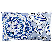 Tesco Floral Cushion Blue