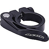 Acor Forged Alloy Q/R Seat Post Clamp: 34.9mm Black.