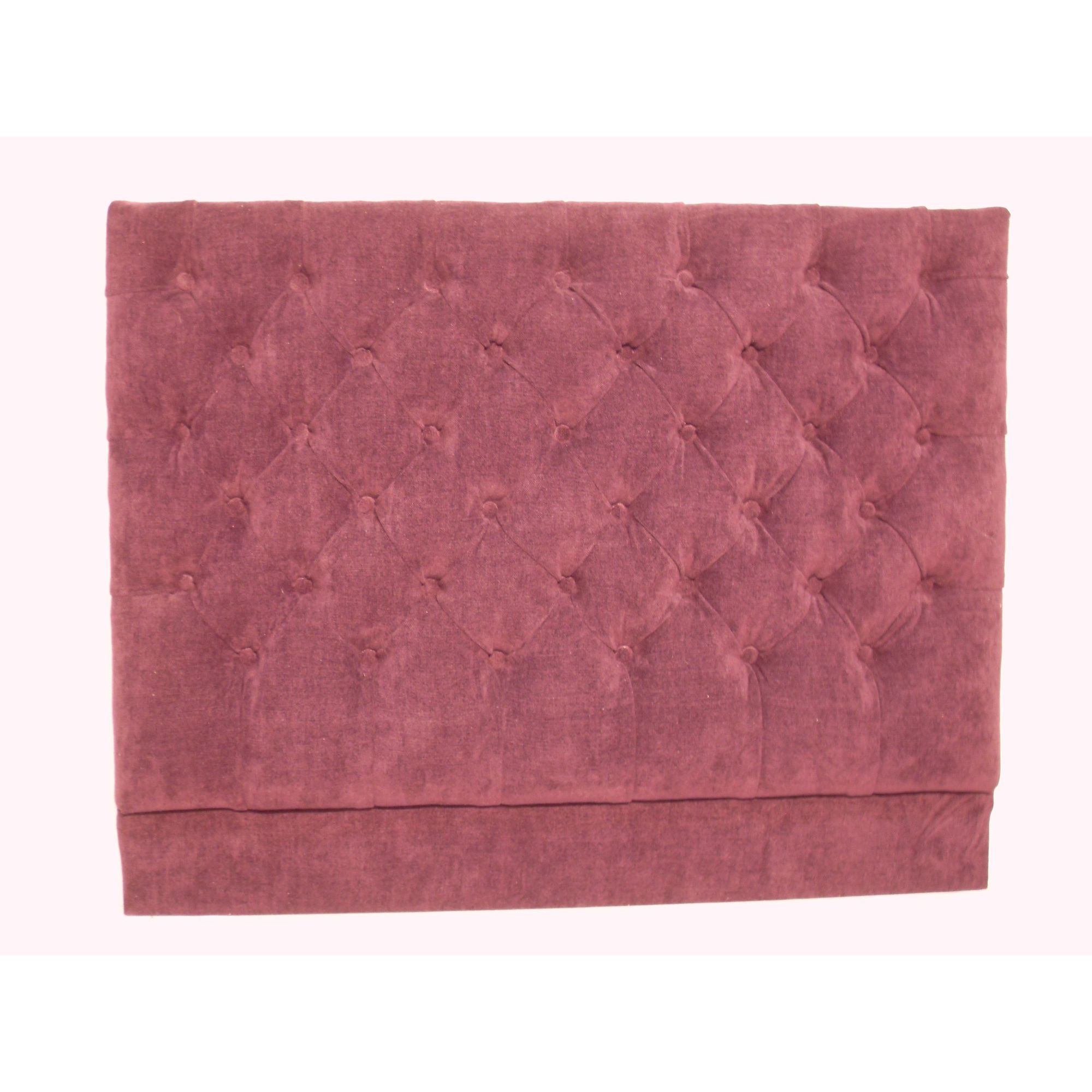 Headboard Solutions Deep Buttoned Headboard - Apollo Dewberry - Double at Tescos Direct