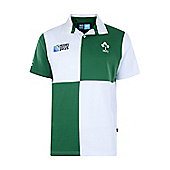 Ireland Rugby Harlequin S/S Rugby Jersey - Green