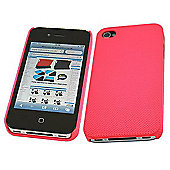 iTalkonline Mesh Hard Case for Apple iPhone 4 - Pink