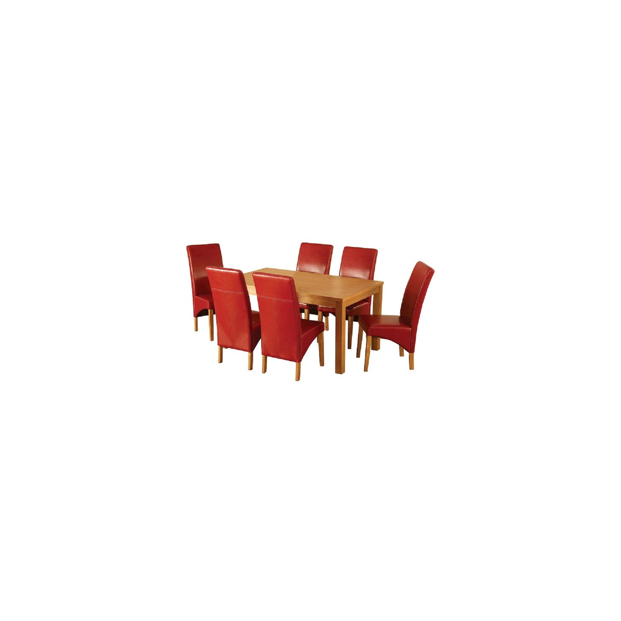 Home Essence Belgravia 7 Piece Dining Set - Rustic Red at Tesco Direct