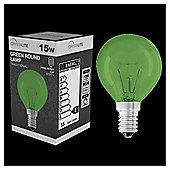 15w - Crystalite - Round - SES - Green - 1 pk box
