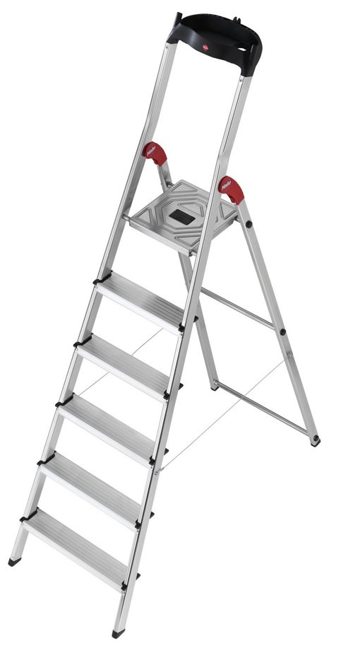 Hailo 303cm L60 Aluminium Safety Household Ladder with Multifunction Tray