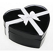 Medium Round Jewellery Box - Black / White