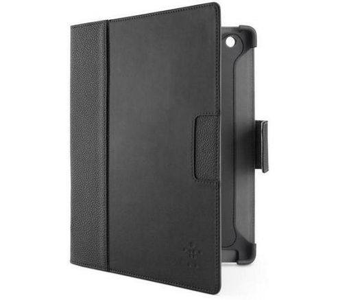 Belkin Cinema Folio with Stand for The New iPad and iPad 2 Leather (Blacktop/Corner Stone)