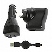 Micro USB 3in1 Mains, In-Car and USB Charger