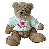Star Bridesmaid Wedding Bear with Cream Jumper