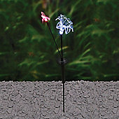 Lily & Hummingbird Solar Stake Light
