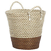 Tesco Brown Dipped Laundry Basket