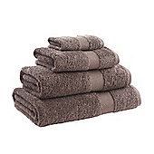Catherine Lansfield Home Egyptian towel bath towel, 70x120, Chocolate