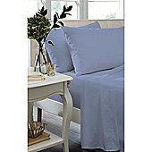 Catherine Lansfield Home Non Iron Percale Combed Polycotton Single Bed Flat Sheet CORNFLOWER