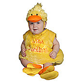 Dress Up America Duckling Plush Baby Costume - 12 - 24 Months