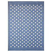 Lorena Canals Estrellitas Blue Children's Rug - 120 cm x 160 cm (4 ft x 5 ft)
