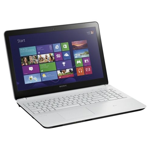 Sony Vaio Fit 15E 15.5 inch Notebook, Intel Pentium Dual-Core, 4GB RAM, 500GB, Windows 8, White