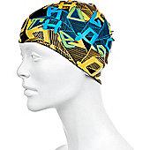 Speedo Slogan Junior Silicone Swimming Cap - Yellow