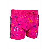 Girls Star Boardshorts - Pink