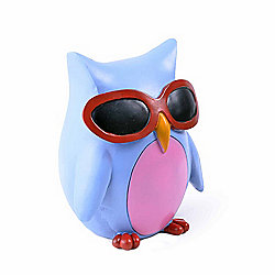 Colourful Blue Bird in Sunglasses Resin Money Box Savings Bank