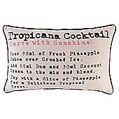 Cocktail Print Cushion