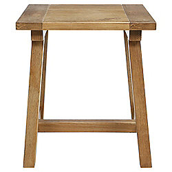 Portobello Trestle Side Table Rustic Pine