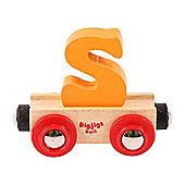 Bigjigs Rail Rail Name Letter S (Orange)