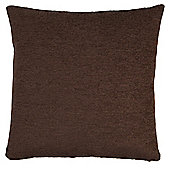 Tesco Chenille Brown Cushion