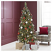 Festive Prelit Montana Spruce Tree With Hinged Branches, 6ft