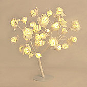 45cm Rose Tree Table Lamp in White with 32 Warm White LEDs