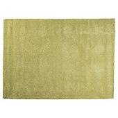 Plain Dye Wool Rug 80x150 Green