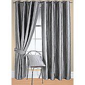 Jazz Ready Made Eyelet Curtain - Silver