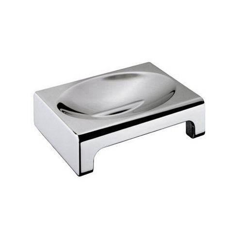 Sonia Nakar Soap Dish Counter Top in Chrome