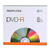 DVD-R 4.7GB 5-Pack