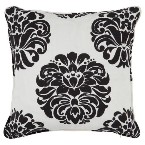 Tesco Nouveau Cushion Black/White