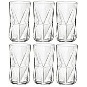 Bormioli Rocco Cassiopea Tumblers Glasses - 480ml - 16.25oz - Set of 6