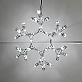 Twinkling Snowflake LED Rope Light Silhouette