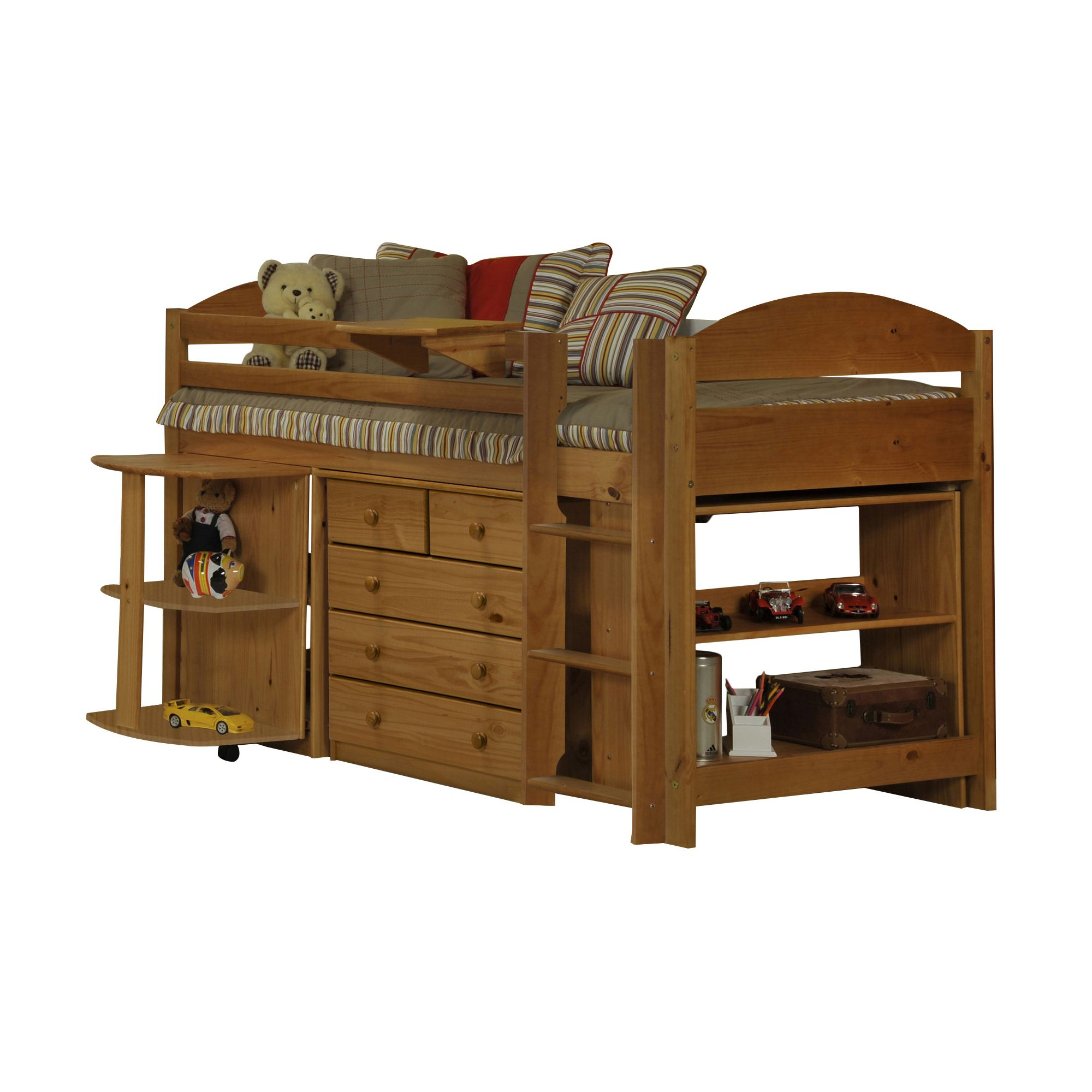 Verona Maximus Midsleeper with Underbed Furniture - Antique at Tescos Direct