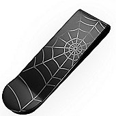 Urban Male Black Stainless Steel Spiders Web Men's Money Clip