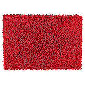 Tesco Chenille Bath - Red