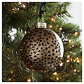 Tesco Leopard Print Bauble Hanging Decoration