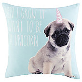 Novelty Unicorn Puppy Cushion