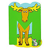Bigjigs Toys BJL213 Wooden Magnetic Animal Letter Uppercase M (Designs Vary)