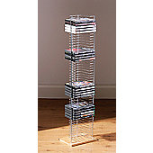 Premier Housewares Floorstanding DVD Rack with Light Wood Base