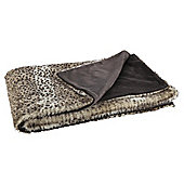 Leo faux fur throw